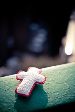 뜨개질 십자가,수공예십자가