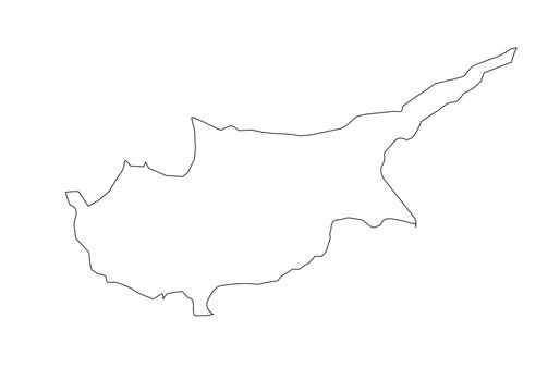 political map of island of cyprus