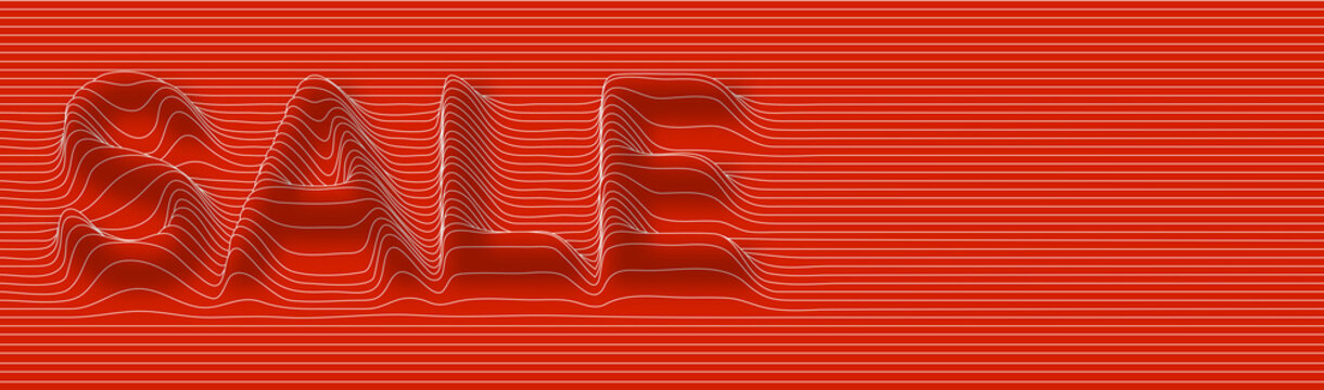 Sale Calligraphic line art Abstract flat line pattern vector illustration.
