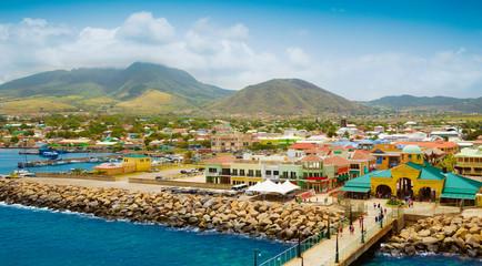 Port Zante in Basseterre town, St. Kitts And Nevis Fototapete