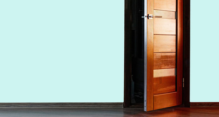 interior wood doors with a metal handle