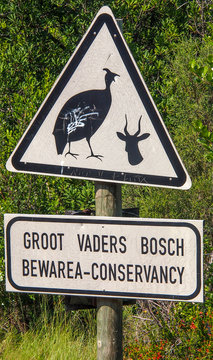 South Africa, Western Cape province, Klein Karoo, Grootvadersbosch Nature Reserve logo