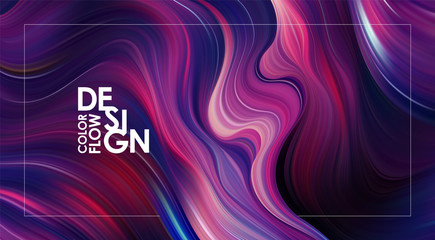 Abstract colorful flow background. Wave color Liquid shape. Trendy design.