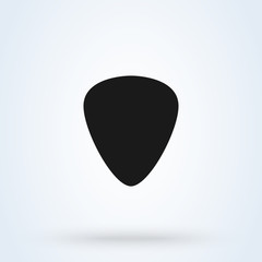 Guitar pic Simple modern icon design illustration.