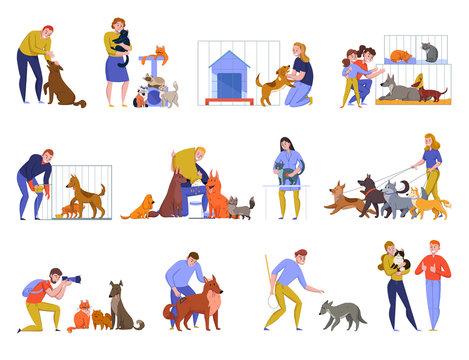 Animal Shelter People Set