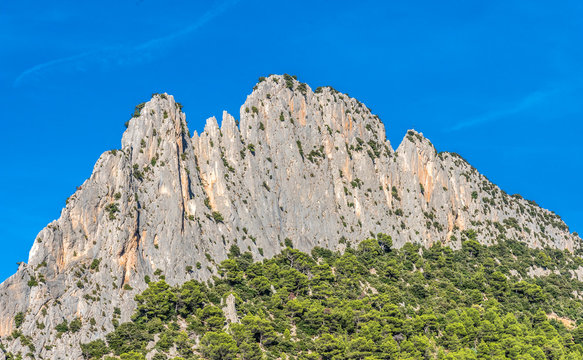 France, Drome, The Provencal Baronnies Regional Natural Park, rock Saint Julien (767 meters high)