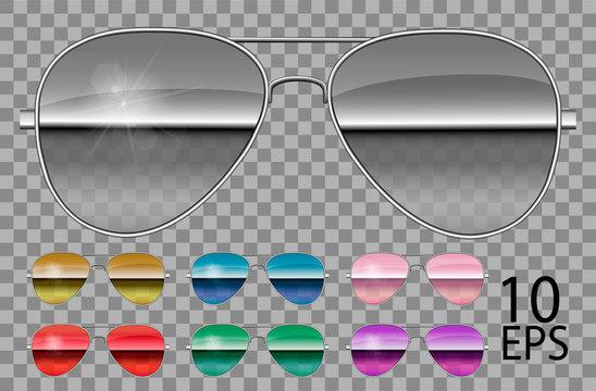 Set specular glasses.Police drops aviator  shape.transparent different colorpurple.sunglasses.3d graphics.unisex  women men.