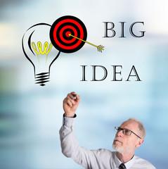 Businessman drawing big idea concept