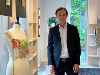 H&M Chief Executive Karl-Johan Persson poses for a picture at the fashion retailer's headquarters in Stockholm