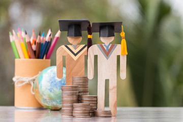 Concept of Budget for education learning scholaship financial fee payment, models people in...