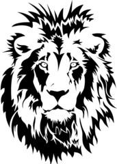 Lion Head Logo Vector Template Illustration Design  S