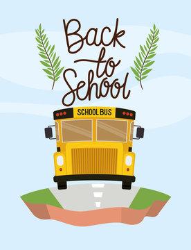 school bus transport in the terrain