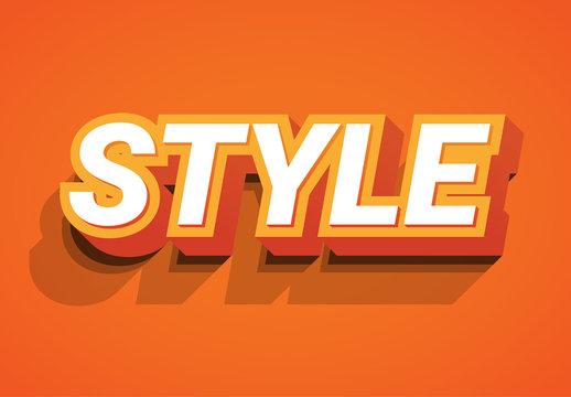Orange 3D Text Effect