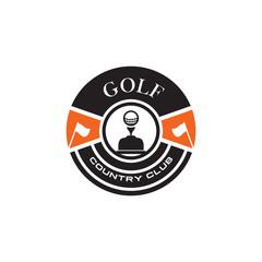 Emblematic logo design for golf club