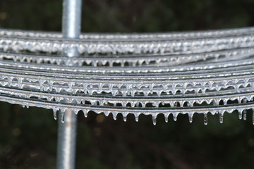 An unusual ice storm hits Kansas during the spring, covering everything with a sheet of ice.