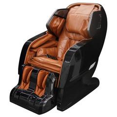 Black massage chair.