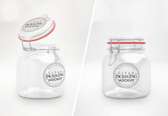 Clear Glass Jar Mockup