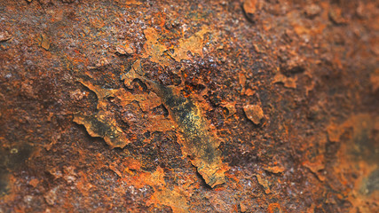 Canvas Prints Marble Rusty metal texture with streaks of rust, soft focus for vintage grunge surface backgrounds