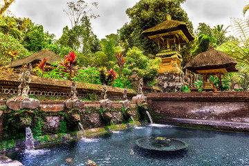 Wall Murals Bali Gunung kawi Sebatu Temple in Bali, Indonesia