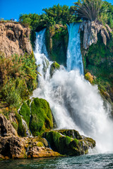 Foto op Plexiglas Zalm Antalya waterfall in the sea, Turkey