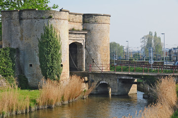 Le mura di Bergues, Pas-de-Calais, Hauts-de-France
