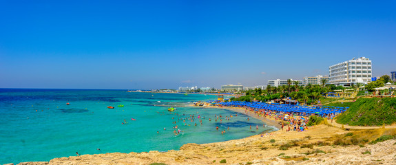 beautiful view of Pantachou beach in Ayia Napa, Cyprus Fototapete