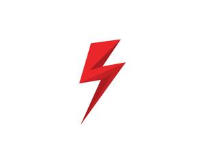 Lightning flash logo Black vector
