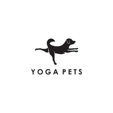 yoga pet dog yoga logo design