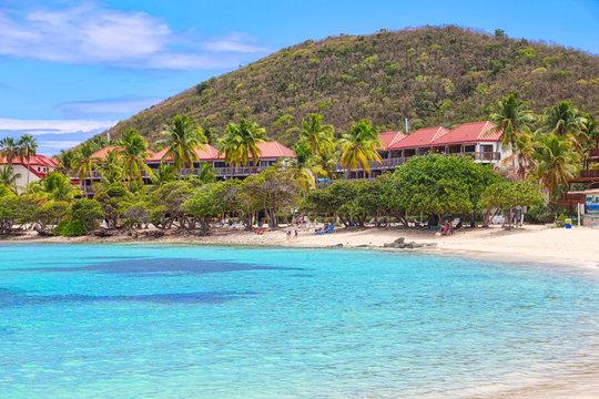 Famous Sapphire beach on St. Thomas island