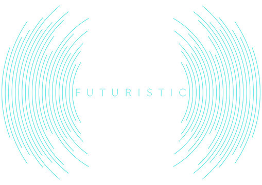 Blue circular lines abstract futuristic tech background