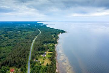 Wall Mural - Gulf of Riga, Baltic sea next to Kaltene, Latvia.