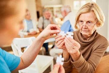 Senior with Alzheimer's or dementia