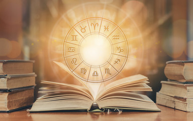 Zodiac sign horoscope astrology and constellation study for foretell and fortune telling education...