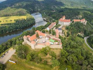 The castle Veveri in Brno Bystrc from above, Czech Republic