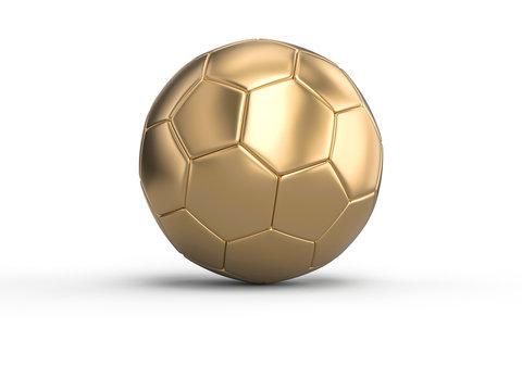handball gold ball on a white background.
