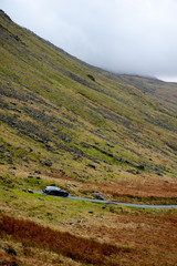 English Highlands Scotland Driving Winding Road
