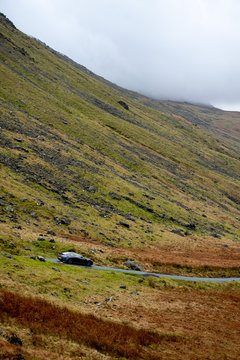 English Highlands Scotland Driving Winding Road