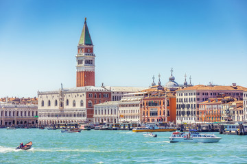 Fototapete - Doge's Palace in Venice on a summer day. Scenic travel background.