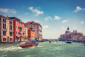 Fototapete - Architecture of Venice, Italy at daytime. Scenic travel background.
