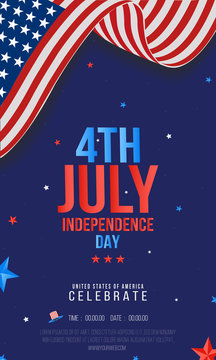 Sale or party Poster, Banner, Flyer, Creative vector illustration for 4th of July, American Independence Day.