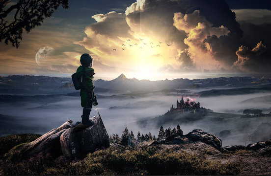 The revenge of a heroic and brave child against an evil castle (Fantasy)