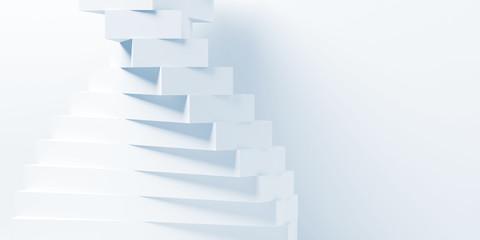 Photo sur Plexiglas Spirale Abstract white parametric 3d spiral