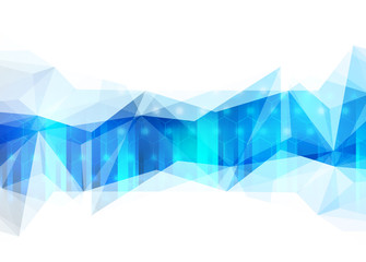 Abstract blue lowpoly vector background