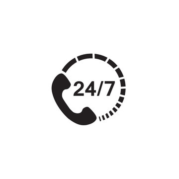 24 7 call center support icon