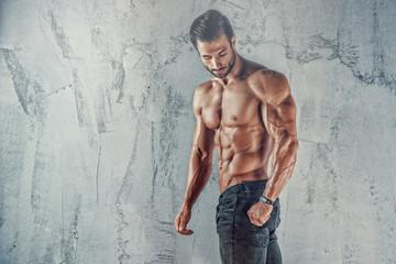 Handsome Shirtless Muscular Men