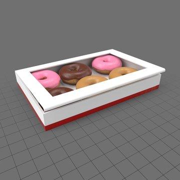 Assorted doughnuts in box