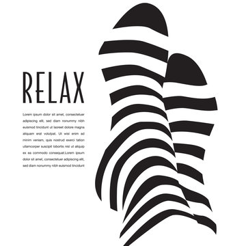 PriA relaxation graphic that can also be used as an icon.  Great for vacation poster. nt