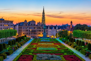 Photo sur Plexiglas Bruxelles The Mont des Arts or Kunstberg is an urban complex and historic site in the centre of Brussels, Belgium