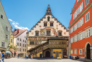 Decorated townhall in the german city Lindau
