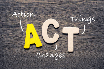 ACT Wood Letters Acronym